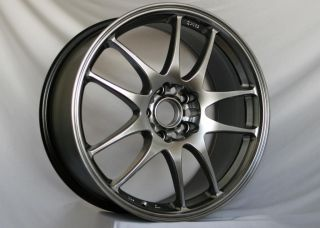 17 ROTA TORQUE BLACK RIMS WHEELS 17x7.5 +45 5x114.3 MAZDA3 SPEED3