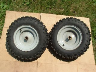 Duro 4 80 8 Tires and Rims from A White Sno King Snowblower
