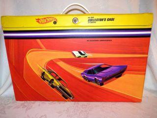 1968 Hot Wheels 48 Car Collectors Case Mattel Redlines Models on Case