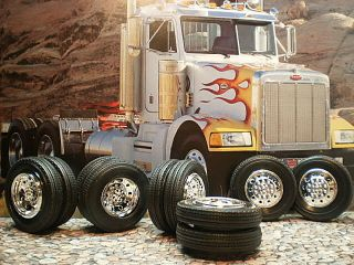 25 Model Big Rig Chrome Wheels ires Semi racor railer ruck