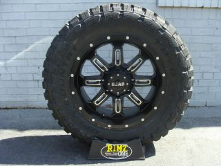 18 Gear Alloy 725MB Wheels 35x12 50R18 35 Toyo Open Country MT Tires