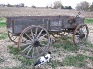 Olds Horse Drawn Wagon Wood Wheels Original Finish Built Fort Wayne In