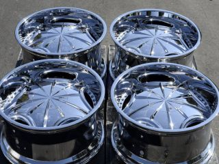 6x139 7 Chrome Mizati Rims Gmc Sierra Denali Nissan Pathfinder Wheels