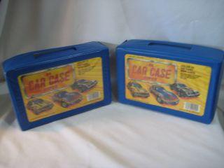 Tara Toy Set 2 Match Box Hot Wheels Car Cases w trays 48 diecast cars