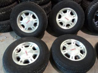 Factory 16 GMC 1500 Aluminum Wheels 6x5 5 245 75R16 Dunlop AT20 Tires