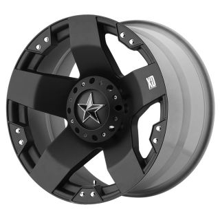 20 inch Black wheels XD775 Rockstar Chevy Gmc Dodge 2500 3500 Trucks 8