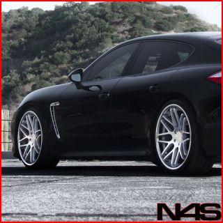 996 Carrera Vertini Magic Silver Concave Staggered Rims Wheels