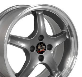 17 x 8 Gunmetal Cobra Wheels Set of 4 Rims Deep 4 Lug Fits Mustang