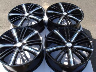 Black Effect Wheels Cadillac DTS Seville Pontiac Grand Prix 5 Lug Rims