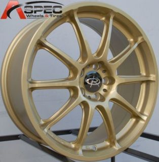 Rota Group A 17x7 5 5x100 ET48 56 1 Gold Rims Wheels