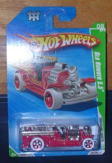 Hot Wheels Old Number 5 5 Fire Truck 1 64 Scale Die Cast 2009 Mattel