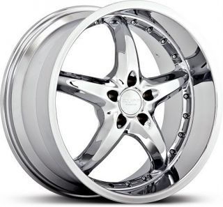 20 inch Ruff Racing 280 Chrome Wheels Rims 5x112 45