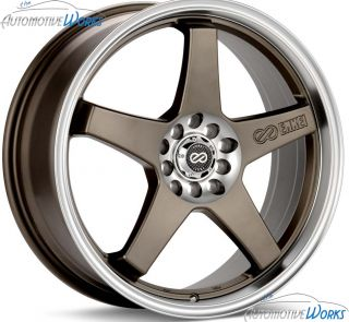 Enkei EV5 5x100 5x114 3 5x4 5 45mm Bronze Machined Rims Wheels Inch 18