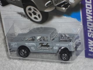 Hot Wheels New For 2013 Casting   HW Showroom 55 Chevy Bel Air Gasser