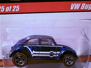 Hot Wheels VW Bug Blue Classics Series 1 White Interior