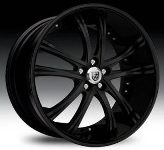 55 Staggered Wheel Set 22x10 22x9 0 Full Black Lexani Rims 5LUG
