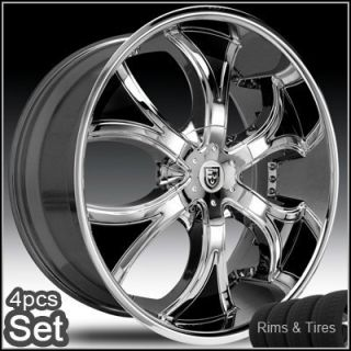 30 Lexani Dial Wheels and Tires Escalade Chevy Ford QX56 RAM Rims