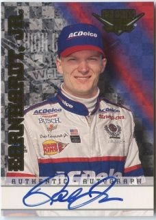 Dale Earnhardt Jr 1999 Wheels High Gear NASCAR Auto Autograph 350