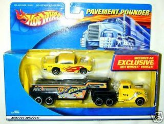 Hot Wheels Pavement Pounder Power Transporter 57 Chevy
