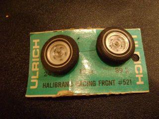Ulrich 1 24 Slot Car 521 Halibrand Racing Front Wheels Tires NOS 1960s
