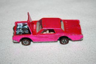 Vintage Hot Wheels Redline Hot Pink Custom Continental Mark III 1968