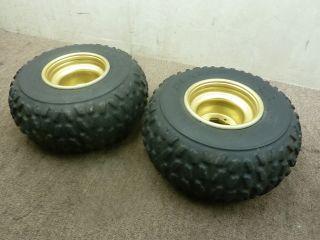 1999 99 Yamaha Warrior 350 Rear Wheels Rims Tires