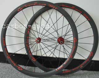 700c 3K Matt Finish Logo 38mm Road Bike Tubular Wheels Wheelset