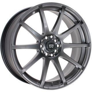 18 Inch Wheels Rims Motegi Racing Hyper Black SP10 Honda Civic Accord