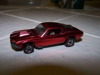 1968 Hot Wheels Red Line All Original Rose Red Custom Mustang