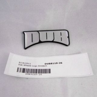 Dub Wheels Logo Emblem 65mm In Length 8110 26 Stick On for Spinners or
