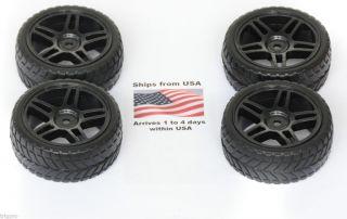 4X Wheels Tires Rims 1 10 HPI Associated 1 16 Traxxas Rally Fiesta