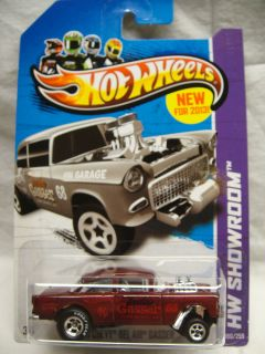 Hot Wheels 2013 CustomSuper Treasure Hunt 55 Chevy Bel Air Gasser