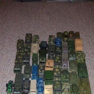 Huge Lot of 53 Hot Wheels Matchbox Military Cars