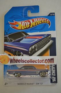 62 Chevy Blue 2012 Hot Wheels E Case Muscle Mania GM 3 10
