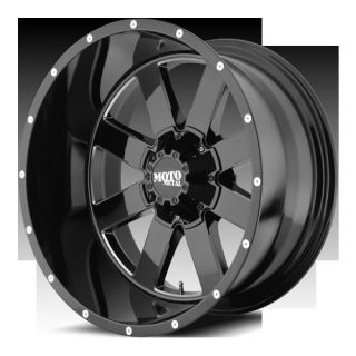 962 Gloss Black Milled Accents Wheels Rims 8x6 5 Chevy Dodge