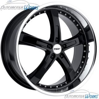 TSW Jarama 5x100 35mm Gloss Black Mirror Rims Wheels inch 17