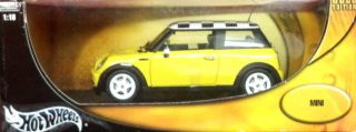 Hot Wheels 1 18 Scale Mini Cooper Metal Collection Gold Edition Mattel