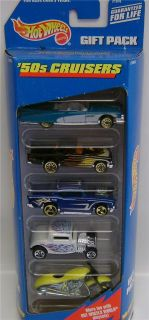 1950s Gift Pack 5 Cars Diecast Hot Wheels 1 64