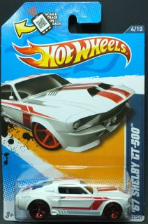 2012 Hot Wheels 114 67 Ford Shelby GT 500™ White Pearl MOC