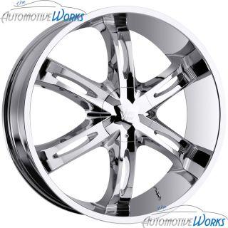 Vision Hollywood 6 6x139.7 6x5.5 +20mm Chrome Wheels Rims Inch 22