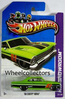 66 Chevy Nova Green Black 2013 Hot Wheels USA B Case