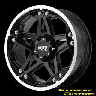 MO960 Gloss Black Machined 5 6 8 Lug Wheels Rims Free Lugs