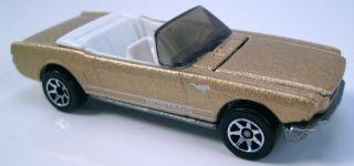 Hot Wheels 65 Mustang Convertible Gold Metallic 7sp 1996