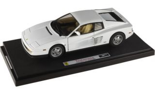 HOT WHEELS ELITE 1/18 FERRARI TESTAROSSA WHITE #P9904 AS IN MIAMI VICE