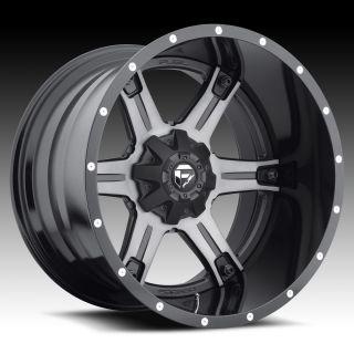 Driller D257 2pc Wheel Set Black Machined 20x10 Rim Chevy Wheel