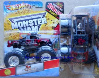 2012 Hot Wheels NORTHERN NIGHTMARE Monster Jam Truck 1 64 scale New M