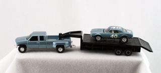 Ertl 1 64 Chevy Dually Pickup Gooseneck Trailer and Hot Wheels Custom