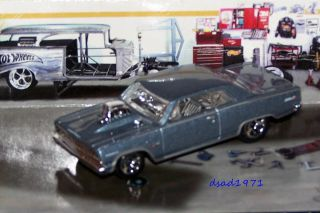 HOT WHEELS 1964 64 CHEVY CHEVELLE MALIBU DRAG CAR MINT 1 64 SCALE DIE
