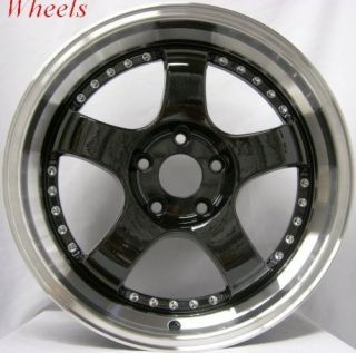 18 Rota D2 Rims Exclusive Black S2000 Staggered Wheels