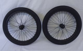 New Salt BMX Wheel Set Rims Wheels 9 tooth Black Anodized Salt Captor